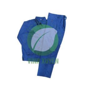 Áo Kaki Nam Định may sẵn màu xanh CN