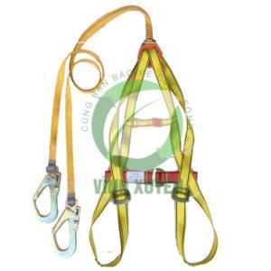 Dây an toàn toàn thân vàng đỏ chống sốc Model T2S1 : 1100 Kg