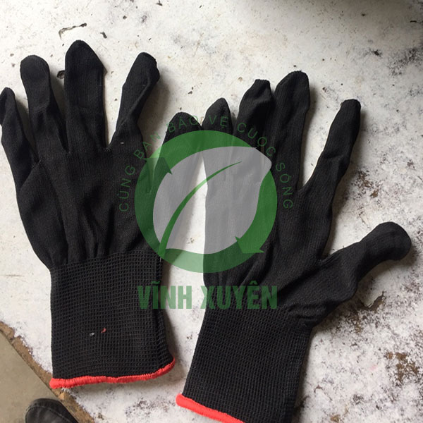 Găng tay mút đen