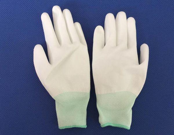 găng tay phủ pu lòng trắng