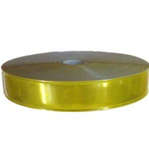 dây nhựa phản quang vàng 2.5cm