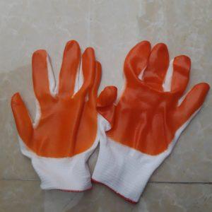 găng tay phủ lòng cao su