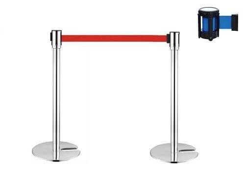 rào chắn dây kéo inox 2m